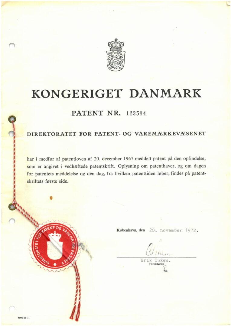 Patent nr. 123504, Denmark-1